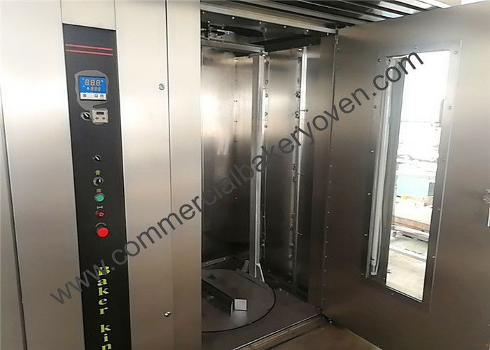 1600kg Bakery Rotary Diesel Oven , Double Trolley Commercial Rotary Oven