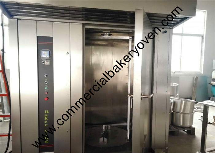 Multifunctional Bakery Equipment Oven , PC Control Double Rack Gas Rotary Oven